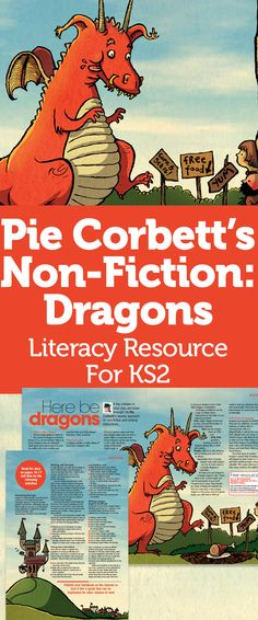 Pie Corbett's Non-Fiction: Dragons – Literacy Resource For Talk 4 Writing, Teaching Writing, Comprehension Activities, Primary Teaching, Teaching Resources, Teaching Ideas, Literacy Year 1, Pie Corbett, Dragons