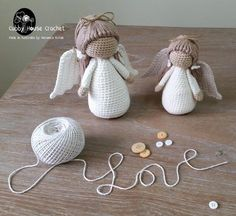 Crochet angel dolls