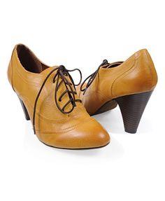 Leatherette Oxford Heels