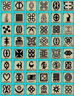 The Adinkra are visual symbols, originally created by the Ashanti of Ghana and the Gyaman of Cote d'Ivoire in West Africa, that represent concepts or aphorisms.