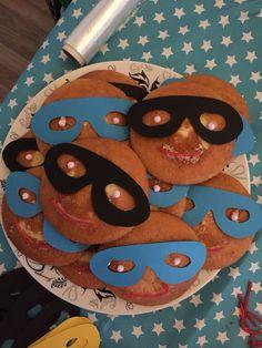 Superhelden eierkoeken gemaakt voor m'n eigen zoon!