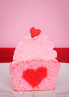 Heart filled cupcakes - how to