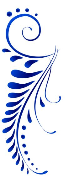 Blue leaf Pattern painting idea like a fern with swirls. Stencil Patterns, Stencil Designs, Embroidery Patterns, Hand Embroidery, Stencils, Stencil Art, Ideias Diy, Pottery Painting, Pyrography