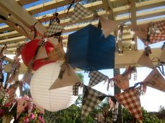 4th of July Bunting and Paper lanterns