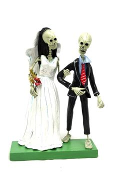 Skeleton Wedding Couple Day of the Dead Sculpture from Alternatives Global Marketplace