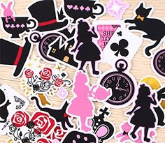 80pcs/set Self-made Beautiful Alice Wonderland Scrapbooki... https://smile.amazon.com/dp/B01JAJAY16/ref=cm_sw_r_pi_dp_x_2v4PxbC0D779N