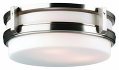 Best Bathroom Light Fixtures | Philips Forecast F611136 27th Street Ceiling Light Satin Nickel -- Check out the image by visiting the link. Note:It is Affiliate Link to Amazon. #foryouby