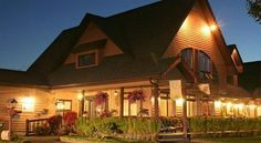 This country inn in Edmundston is as well-known for its restaurant's delicious food as for the beautiful woodland setting near the Saint John River. New Brunswick, Saint Jacques, Saint Jean, Summer Travel, Restaurant Design, Dream Vacations, Paths, Attraction, Gardens