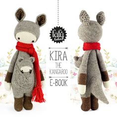 KIRA the kangaroo  lalylala crochet pattern / by lalylala on Etsy