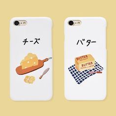 cheese & butter case (다기종) Aesthetic Phone Case, Cute Cases, Apple Products, Food Illustrations, Iphone Phone Cases, Graphic Illustration, Packaging Design, Logo Design, Branding
