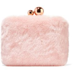 Sophia Webster Vivi leather-trimmed faux fur clutch (32.155 RUB) ❤ liked on Polyvore featuring bags, handbags, clutches, borse, sophia webster, sophia webster handbags, over the shoulder purse, chain purse and over the shoulder handbags
