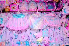 Amazing fairy kei pop kei skirts. Sparkly rainbow. Yesss.