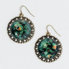 re-pinning these peacock earrings with the actual website
