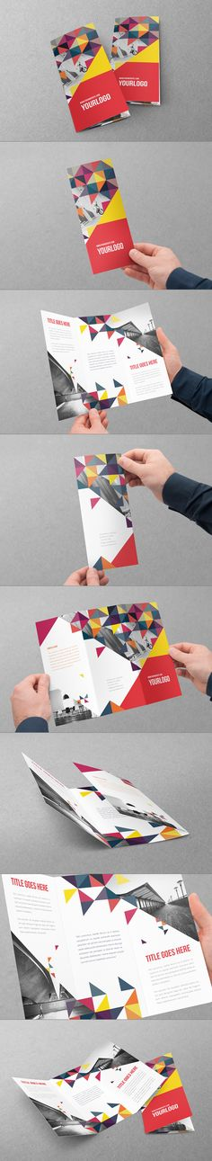 Colorful Triangles Trifold by Abra Design, via Behance