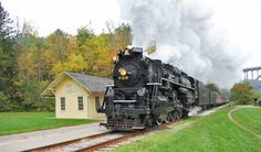 """""""Nickel Plate Road No. 765 shows off its stuff during a photo runby at Boston Mill on the Cuyahoga Valley Scenic Railroad on Sept. 17, 2011.""""Akron Railroad Club"""