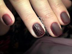 #emmnails #nails #gellac #ojasemi #matte #darkred #manichiura #unghii #mattenails #matterednails