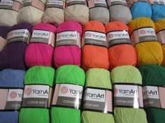 Popular summer cotton yarn with thin thread, composition - blend of cotton and premium acrylic. Weight: Light FingeringGauge: sts = 4 inches, Needle size US - or - is made in Turkey. Needles Sizes, Winter Hats, Knitting, Composition, How To Make, Cotton, Turkey, Popular, Shop