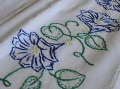 hand embroidered pillowcases   Beautiful Hand Embroidered Pillowcases by…
