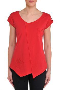 Solid Angle Detail T-Shirt - Nygard Slims - NYGARD.COM