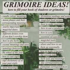 📖I love these Book of Shadows/Grimoire ideas!📖 🖌For more ideas, especially technique ideas and how to make your grimoire uniquely you, I… Green Witchcraft, Magick Spells, Wiccan Witch, Wicca Witchcraft, Wiccan Books, Grimoire Book, Witchcraft For Beginners, Wicca For Beginners, Baby Witch
