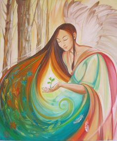 'The Earth Angel' by Jane Delaford Taylor.  also featured on the cover of Horizons Magazine.