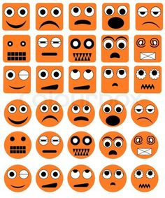 Stock vector of 'Set of the various vector emotion icons'