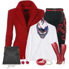 Denim Skirt & Blazer (Outfit Only) by eula-eldridge-tolliver on Polyvore featuring Frame Denim, MARCOBOLOGNA, STELLA McCARTNEY, NOVICA, Honora, RGLT Scarves, Carven, women's clothing, women's fashion and women