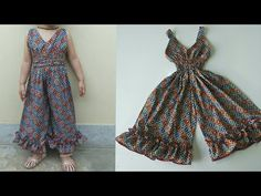 Baby girl jumpsuit easy cutting and stitching. - YouTube