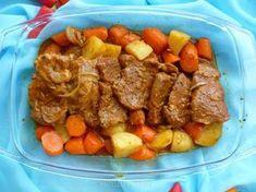 Karkówka pieczona w rękawie z warzywami Polish Recipes, Polish Food, Pot Roast, Recipies, Pork, Beef, Ethnic Recipes, German Recipes, Diy