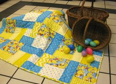 Baby's first Easter will be a special day with a handmade baby quilt. http://shop.uniquebabyquiltboutique.com/