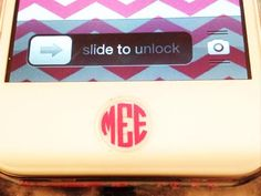 Monogramed iPhone Button