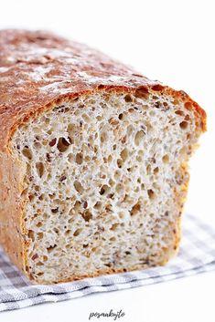 posmakujto! | Chleb wieloziarnisty mieszany łyżką Bread Recipes, Cooking Recipes, Good Food, Yummy Food, No Bake Snacks, Bread Bun, Food Inspiration, Sweet Recipes, Food And Drink