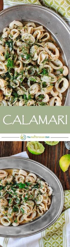 15-minute calamari recipe with champagne and lime-garlic dill sauce! This effortless Mediterranean calamari will wow your family and guests! Try it soon!
