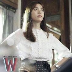 Han Hyo Joo, W Two Worlds, Lee Jong Suk, Second World, Drama Movies, K Idols, Korean Drama, Kdrama, Sequin Skirt