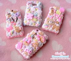 Decoden case shell for all mobile phone kawaii by California of CialiKawaiiland, on Etsy....so cute & sweet