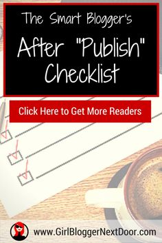 Bloggers >> Checklist to Get Traffic to Your Blog Post (Wordpress Checklist)
