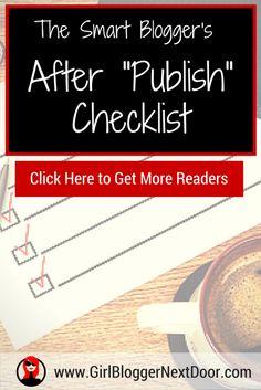 Bloggers >> Checklist to Get Traffic to Your Blog Post (Wordpress Checklist) Marketing Topics, Media Marketing, Digital Marketing, How To Start A Blog, How To Get, Social Media Impact, Blog Writing, Writing Tips, Success