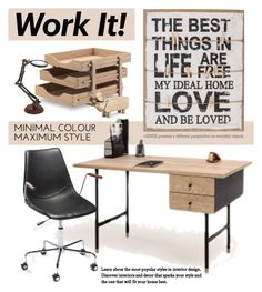 """Home Office"" by viva-12 ❤ liked on Polyvore featuring interior, interiors, interior design, home, home decor, interior decorating, Skagerak, Rosendahl, home office and Home"