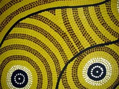 what is Aboriginal dot art? - art lesson background for the fall dot tree