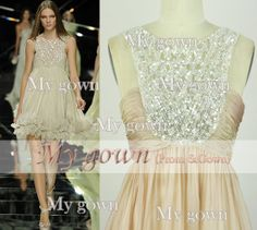 2014 Prom Dress Beading Crystal Chiffon Prom Dress, Cocktail Dresses, Evening Gown,Wedding Dress,Formal Dress,Evening Dress