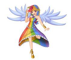Pix For > Mlp Rainbow Dash Anime