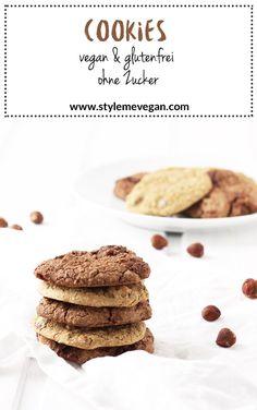 Vegane Cookies - ohne Zucker und #glutenfrei Rezept #vegan