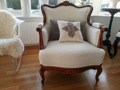 Textilmålad stol..Projekt som jag testat..