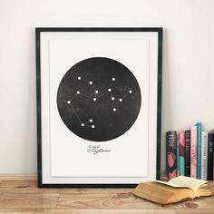 Sagittarius Constellation Art Print by evadesignstudio on Etsy
