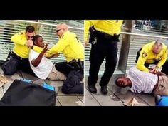 Police choke hold on a man selling water without a license - YouTube
