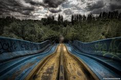 """Just google """"abandoned amusement parks"""" some of these are really creepy but this photographer gets really good angles-http://flavorwire.com/412820/20-haunting-images-of-abandoned-amusement-parks/view-all  -Sandi"""