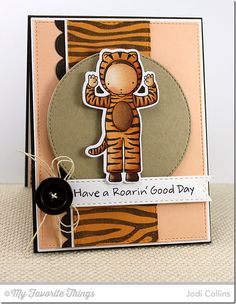 Have A Roarin' Good Day! by Kharmagirl - Cards and Paper Crafts at Splitcoaststampers Paper Art, Paper Crafts, Mft Stamps, Baby Shower Cards, Copic Markers, Copics, Kids Cards, Altered Art, Making Ideas