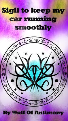 Sigil to keep my car running smoothly Magic Spell Book, Wiccan Spell Book, Wiccan Witch, Wiccan Spells, Magic Spells, Spell Books, Sigil Magic, Magic Symbols, Energy Pyramid
