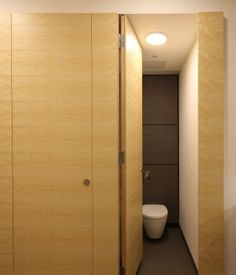 Washroom's full height Alto WC cubicle doors were installed to provide end users with complete privacy, creating the home-from-home feel increasingly demanded. Veneered in quarter-cut ash to match the specification of the existing washrooms, the Alto cubicles add to the high specification design.