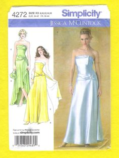 Simplicity 4272 Jessica McClintock Evening Or Prom by lucysbud, $11.00